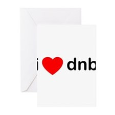 iheartdnb.png Greeting Cards (Pk of 20)