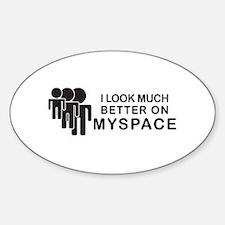 Cute Web 2.0 Sticker (Oval)