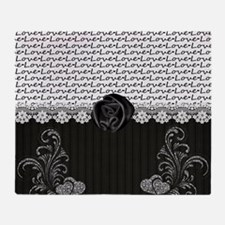 Elegant Love Throw Blanket