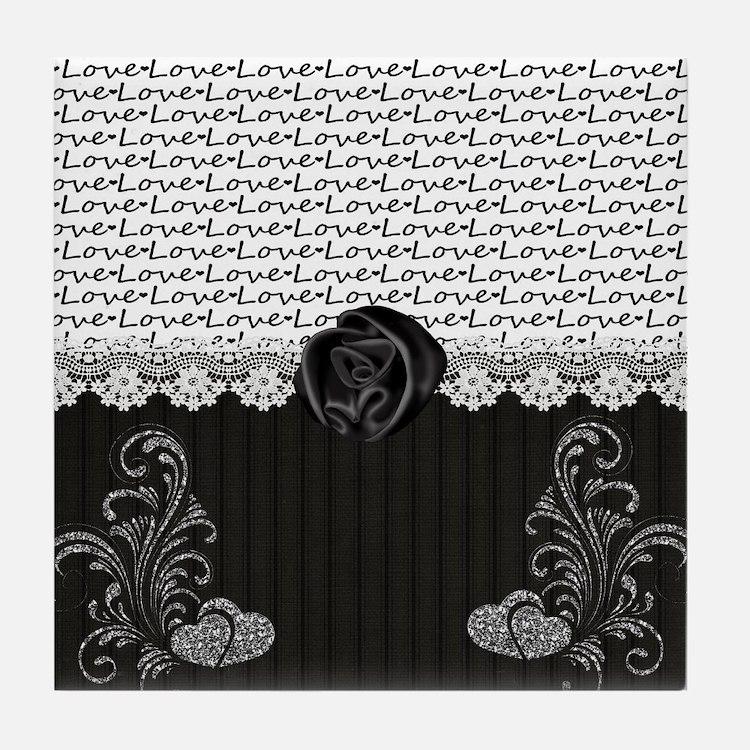 Elegant Love Tile Coaster