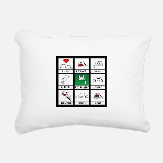 tigercat.jpg Rectangular Canvas Pillow