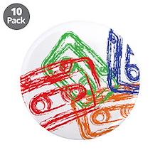 "Cute Tape 3.5"" Button (10 pack)"