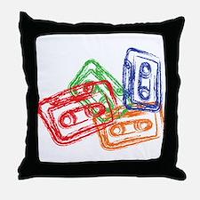 Cute Vinyl records Throw Pillow