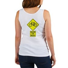 Bike Sign Share the Road Women's Tank Top