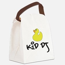 Cute Baby and house music Canvas Lunch Bag