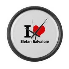 I love Stefan Salvatore Large Wall Clock
