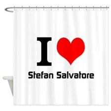 I love Stefan Salvatore Shower Curtain