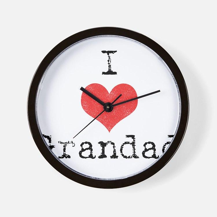 I {heart} Grandad Wall Clock