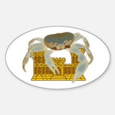 Crabs over Castles Sticker (Oval)