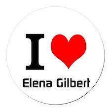 I love Elena Gilbert Round Car Magnet