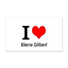 I love Elena Gilbert Rectangle Car Magnet