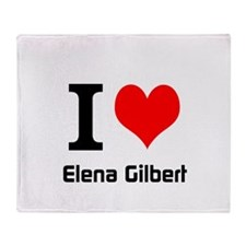 I love Elena Gilbert Throw Blanket