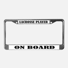Lacrosse Player On Board License Plate Frame