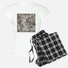 Vintage Map Pajamas