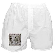 Vintage Map Boxer Shorts