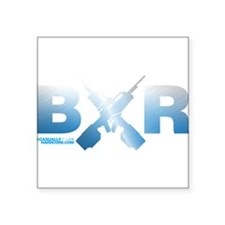 "BXR Square Sticker 3"" x 3"""
