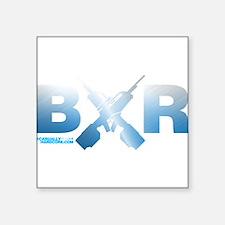 "BXR Square Sticker 3"" x 3"""