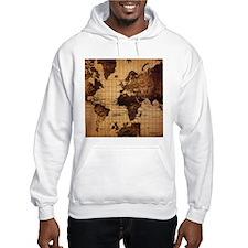 Vintage World Map Hoodie