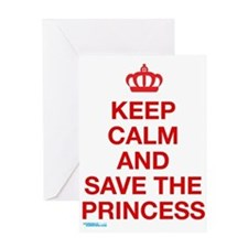 Funny Keep calm video Greeting Card