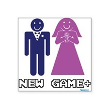 """New Game + Marriage Square Sticker 3"""" x 3"""""""