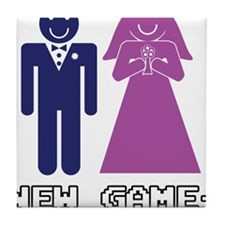 New Game + Marriage Tile Coaster