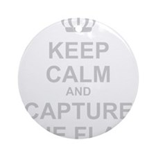 Cute Keep calm and game on Ornament (Round)