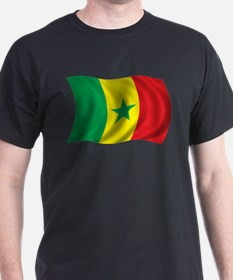 Wavy Senegal Flag T-Shirt
