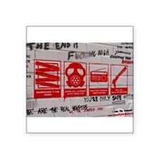 "In Case Of Zombie Apocalypse Square Sticker 3"" x 3"