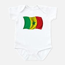 Wavy Senegal Flag Infant Bodysuit