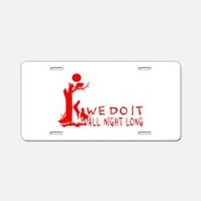 COON HUNTING Aluminum License Plate