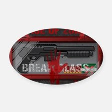 In Case Of Zombies Oval Car Magnet