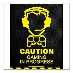 Gaming In Progress Square Car Magnet 3