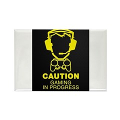 Gaming In Progress Rectangle Magnet
