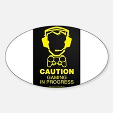 Gaming In Progress Sticker (Oval)