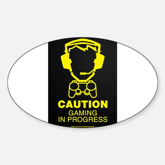 Gaming In Progress Sticker (Oval)
