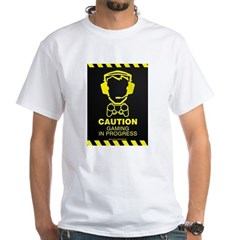 Gaming In Progress White T-Shirt