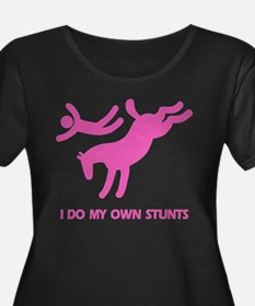 Pink Bucking Horse Stunts T