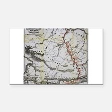 Railroad Map Rectangle Car Magnet