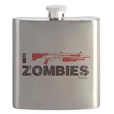 I Shotgun Zombies Flask