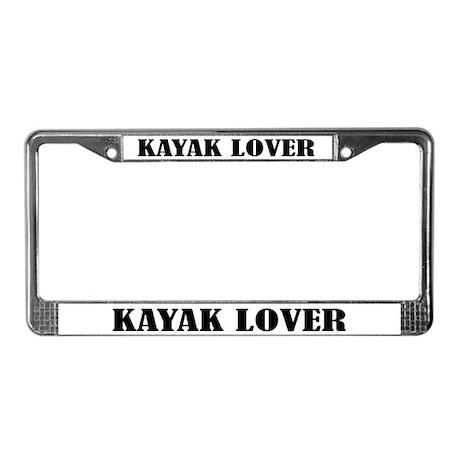Kayak Lover Kayaking License Plate Frame