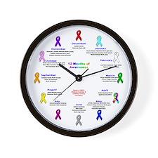 12 Months of Awareness Wall Clock