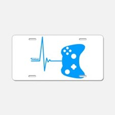 Gamers Heart Beat Aluminum License Plate