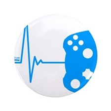 "Gamers Heart Beat 3.5"" Button (100 pack)"