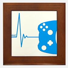 Gamers Heart Beat Framed Tile