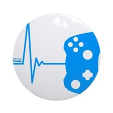 Gamers Heart Beat Ornament (Round)