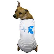 Gamers Heart Beat Dog T-Shirt