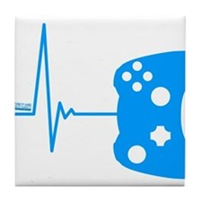 Gamers Heart Beat Tile Coaster