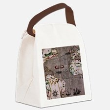 Nautical India Map Canvas Lunch Bag
