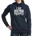 dumbpeoplenewbl.png Hooded Sweatshirt