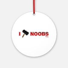 I Hammer Noobs Ornament (Round)
